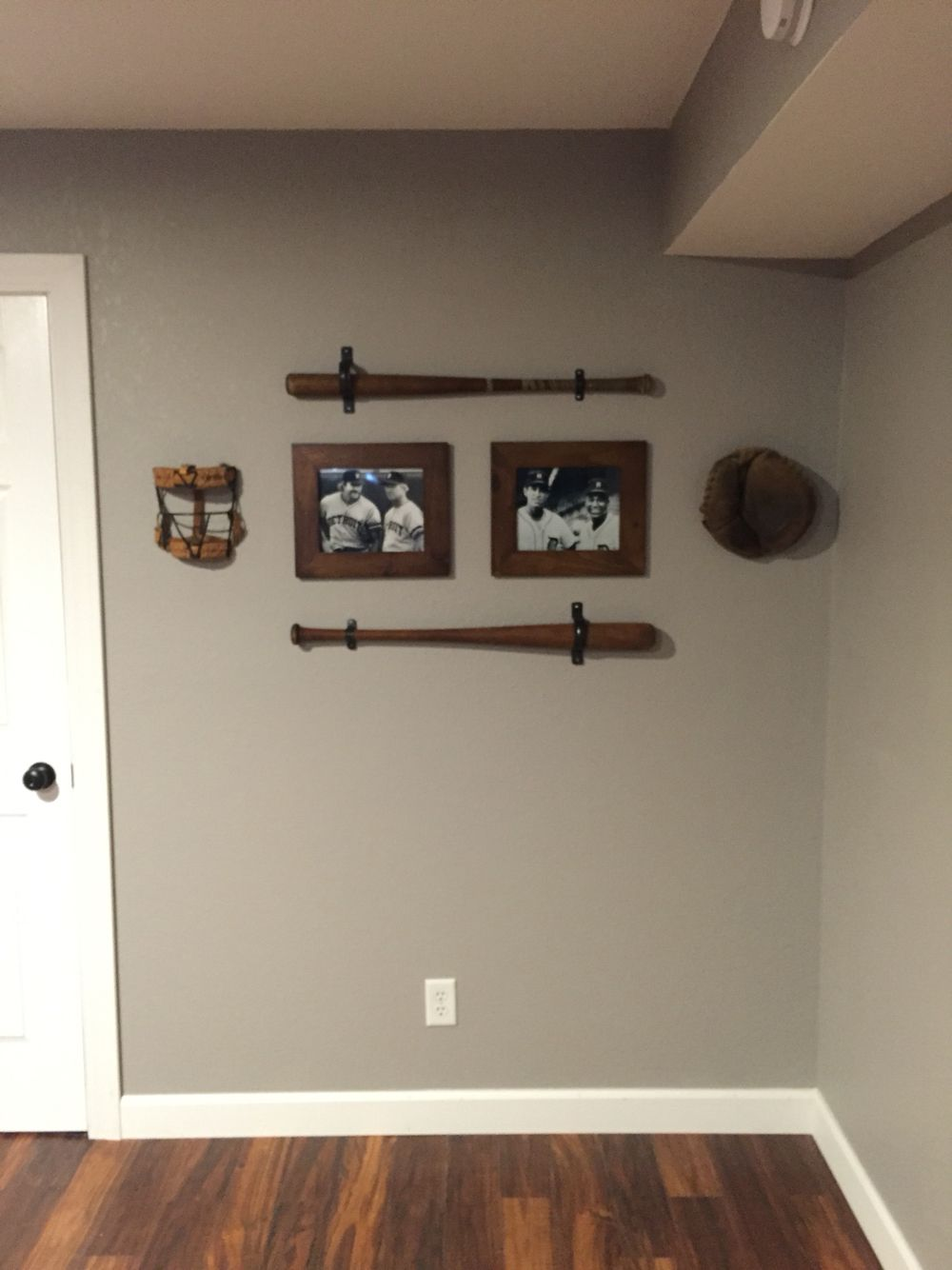 man cave, sports theme, vintage baseball, baseball decor, boy's room