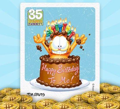Happy 35th birthday, Garfield!
