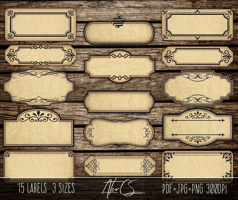 15 Printable Blank Vintage Apothecary Labels Set Editable Etsy Apothecary Labels Vintage Labels Labels Printables Free