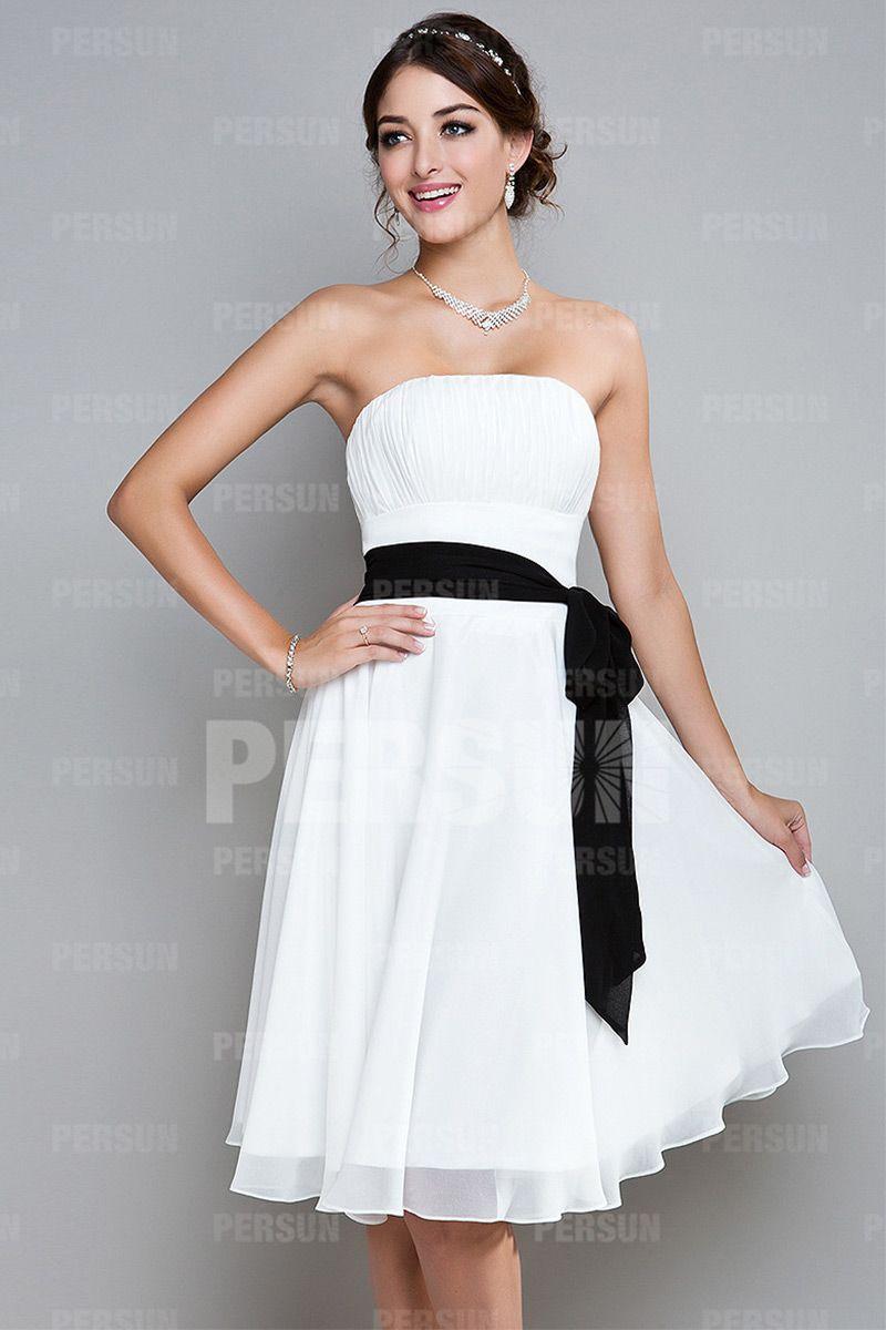307a928ff9fcf Robe blanche de cocktail courte   femmes chic classe   Pinterest