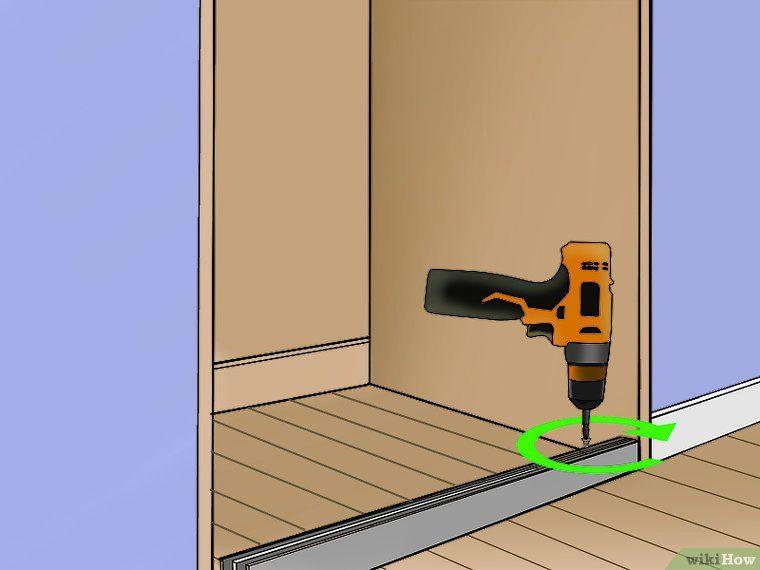 how to put sliding closet doors back on track