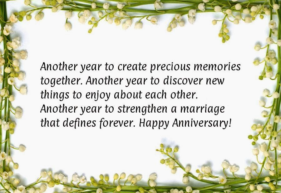 Another Year To Create Precious Memories Wedding Anniversary