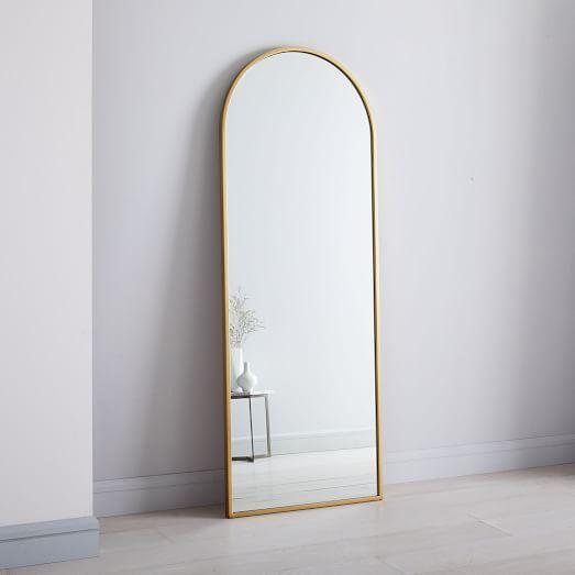 Metal Framed Arched Floor Mirror In 2019 Home Floor