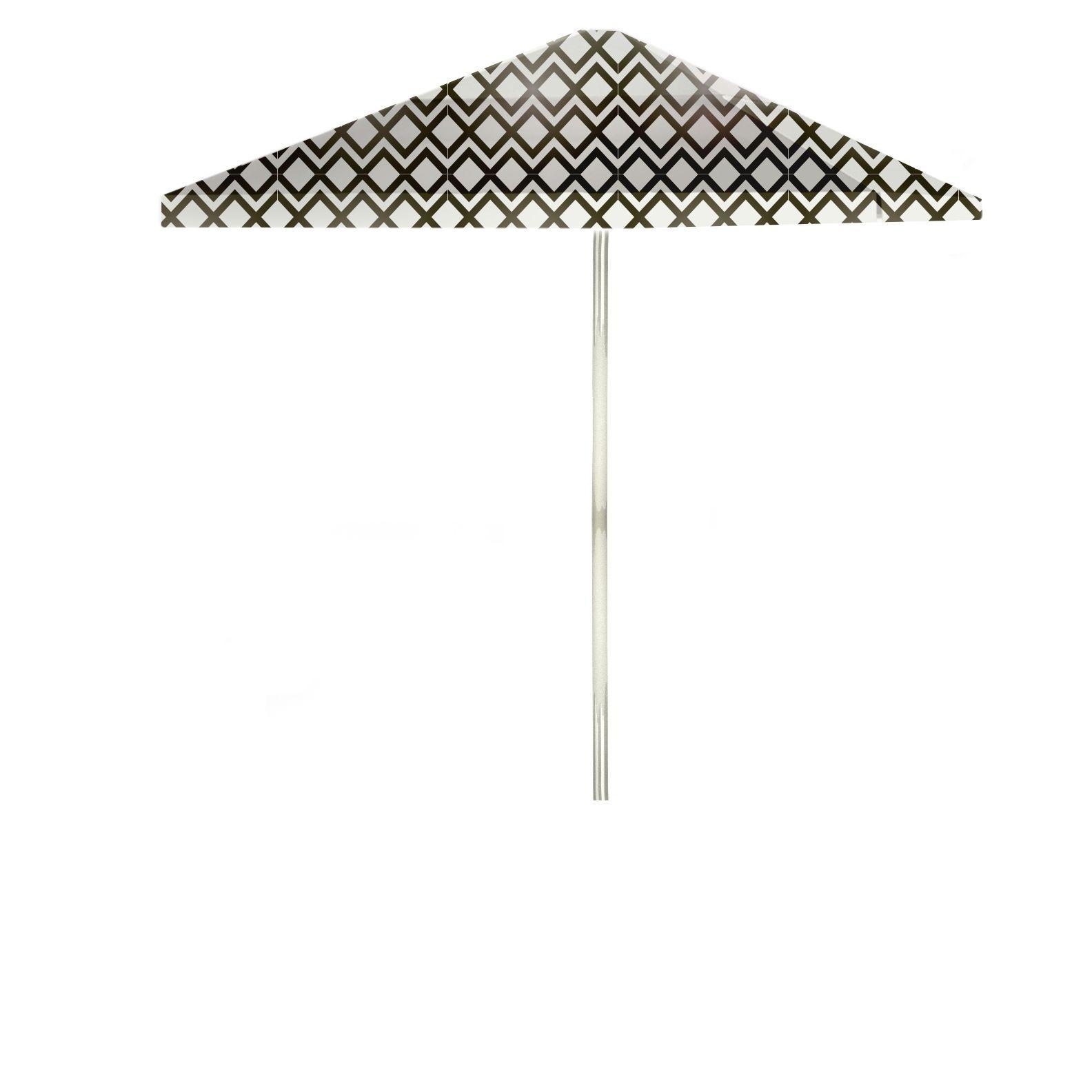 Best of Times Chevron 8 foot Patio Umbrella Chevron Gold