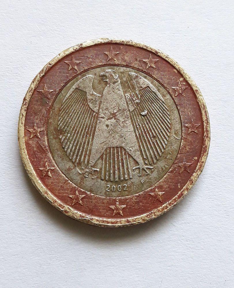 1 Euro 2002 Fehlprägung Oder Probeprägung Mit Pickel Kralle