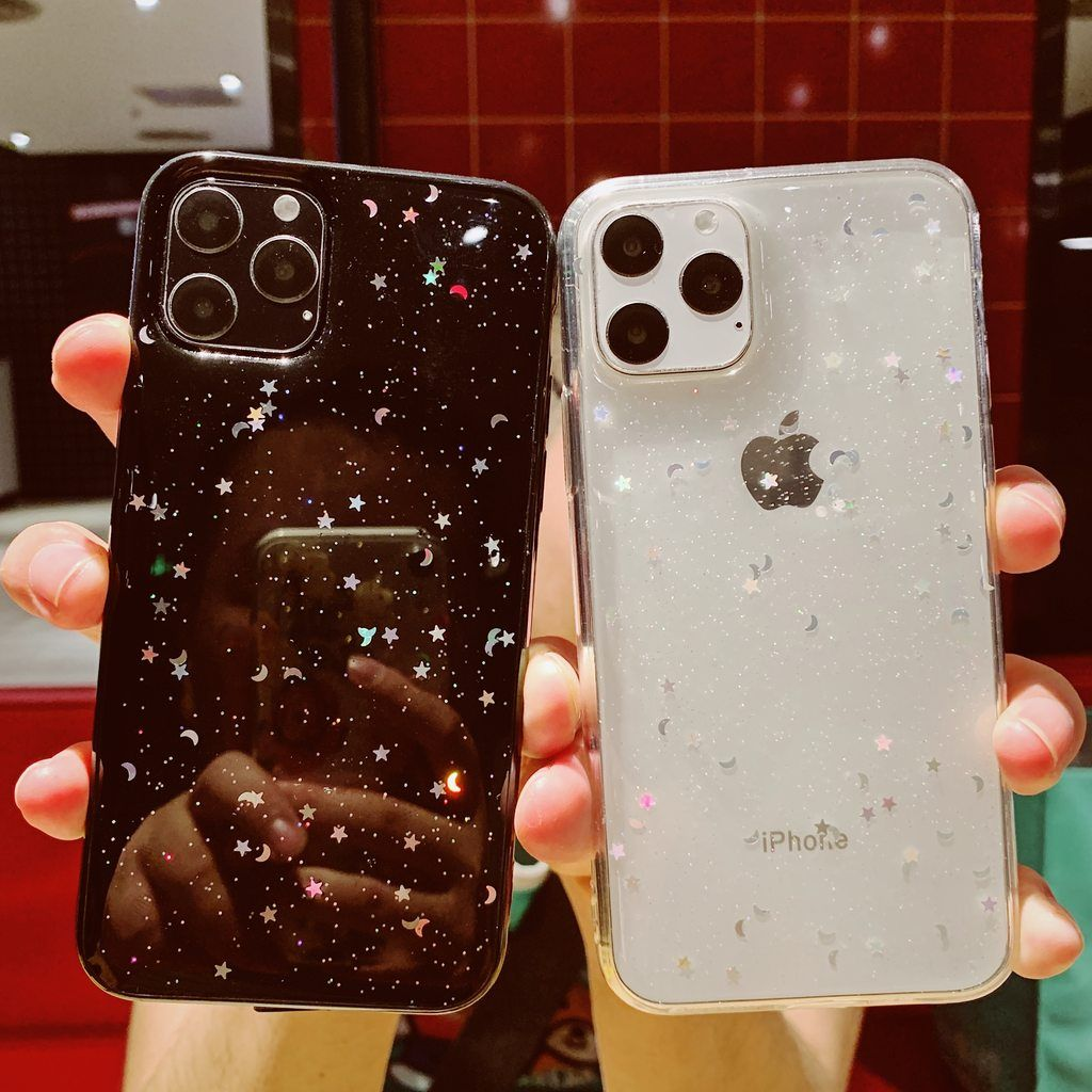 1 Glitter Star Moon Sparkle Iphone Case Vogueen In 2020 Clear Iphone Case Iphone Phone Cases Iphone Case Covers