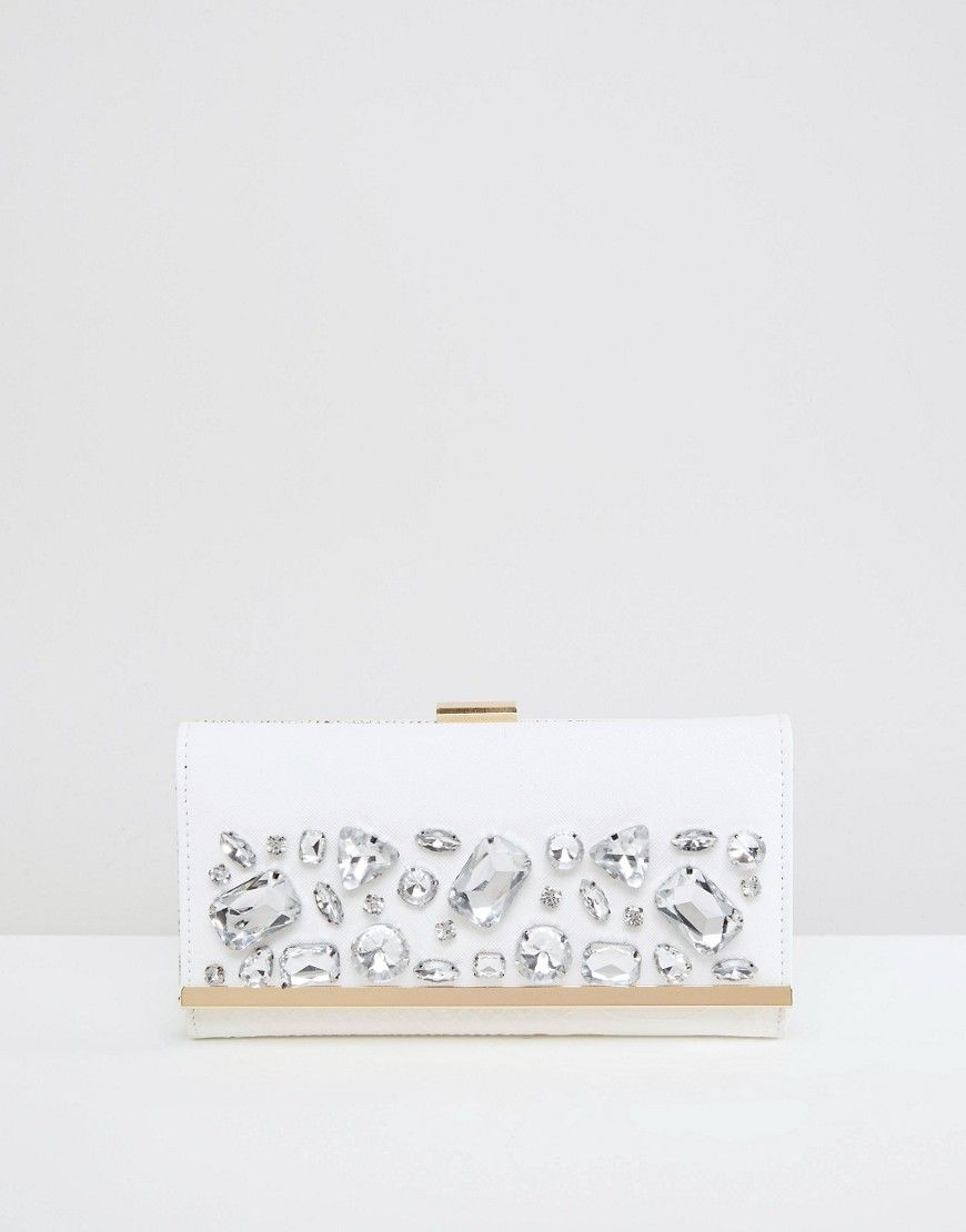 Image 1 ofRiver Island Jewelled Clutch Bag