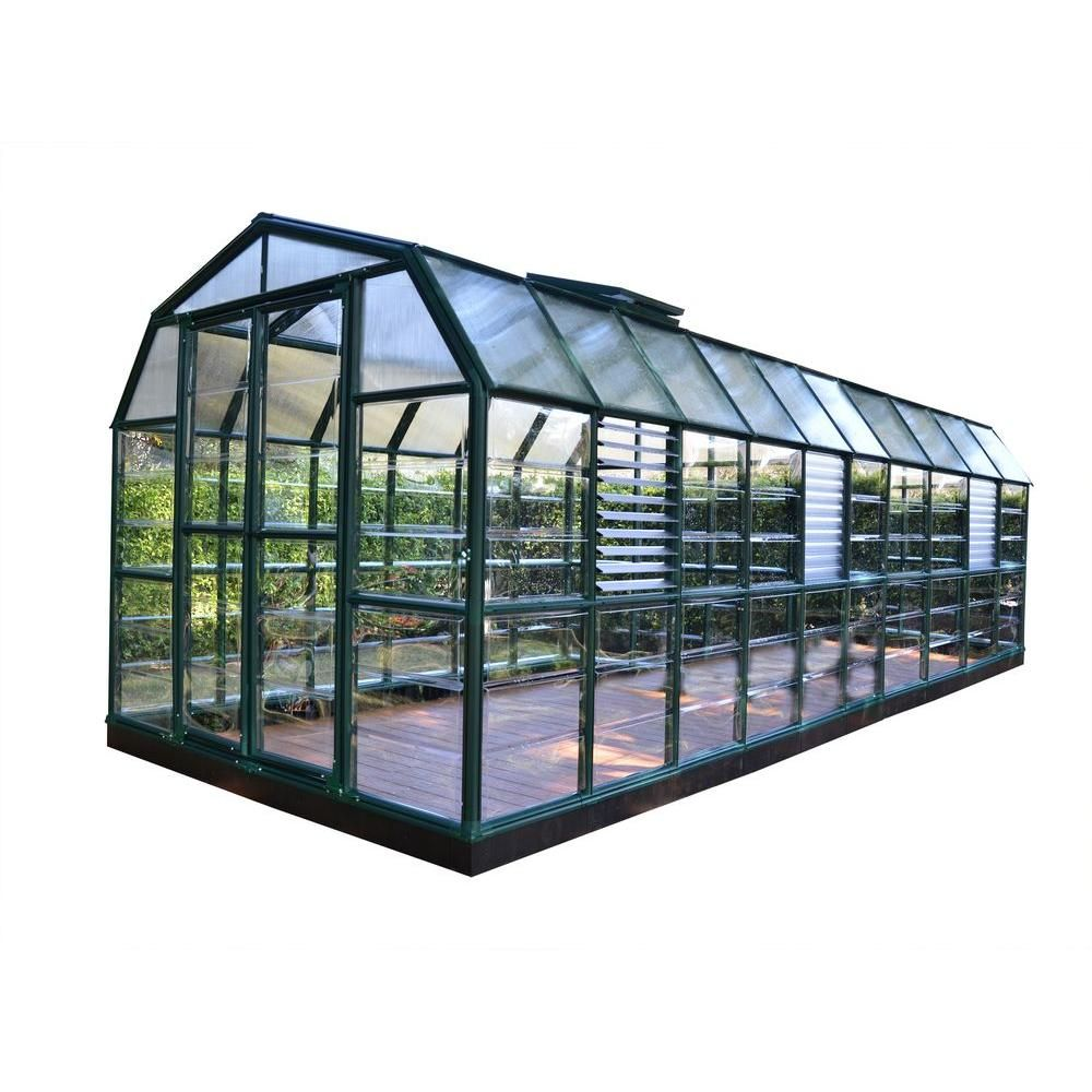 Rion Prestige 8 Ft X 20 Ft Clear Greenhouse 702507 The Home Depot Greenhouse Greenhouse Plans Greenhouse Farming