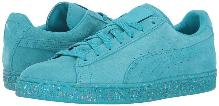 PUMA Mens Suede Classic Splatter Lace-Up Fashion Sneaker
