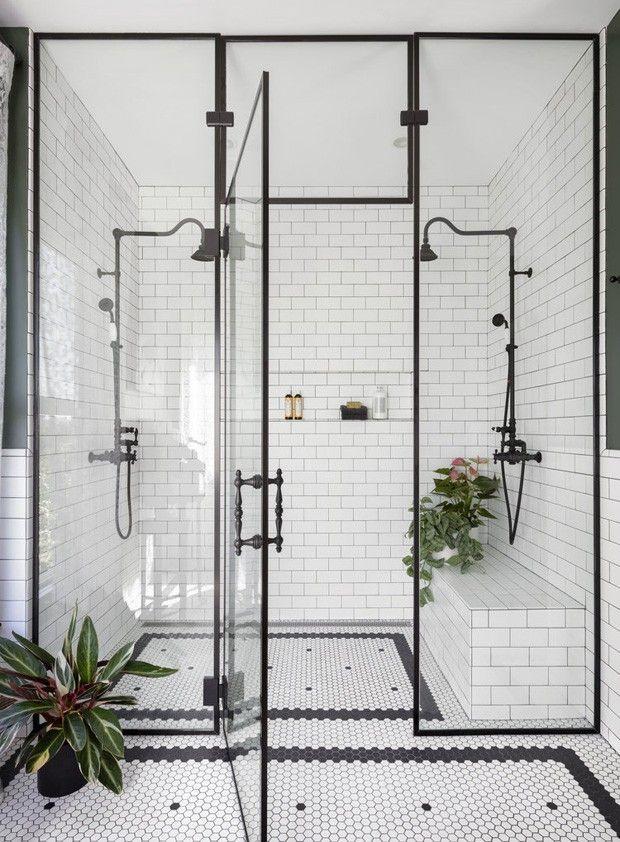 Décor do dia: vintage e industrial no banheiro