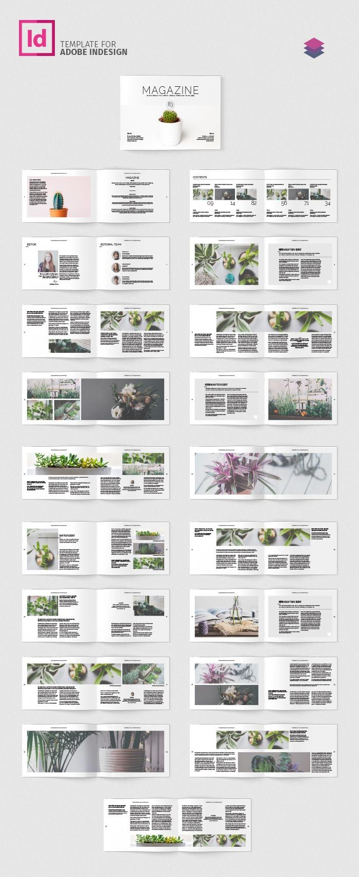 Download ☛ Multipurpose Landscape Magazine  Indesign layout