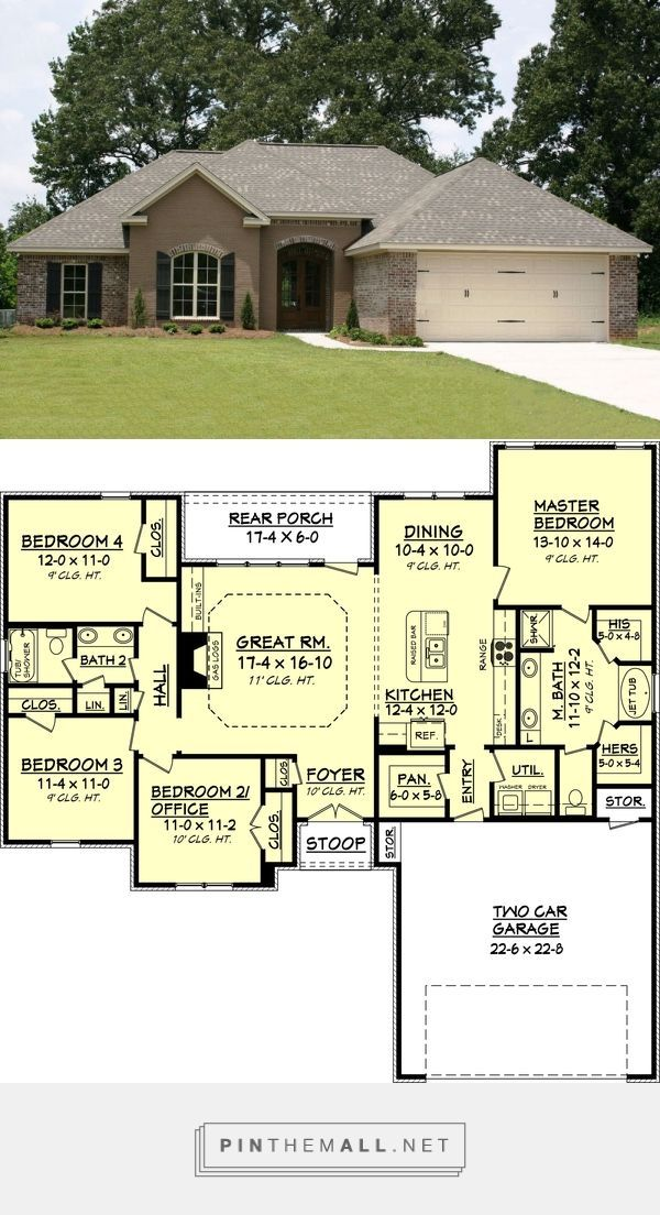 Traditional Style House Plan 1750 SqFt