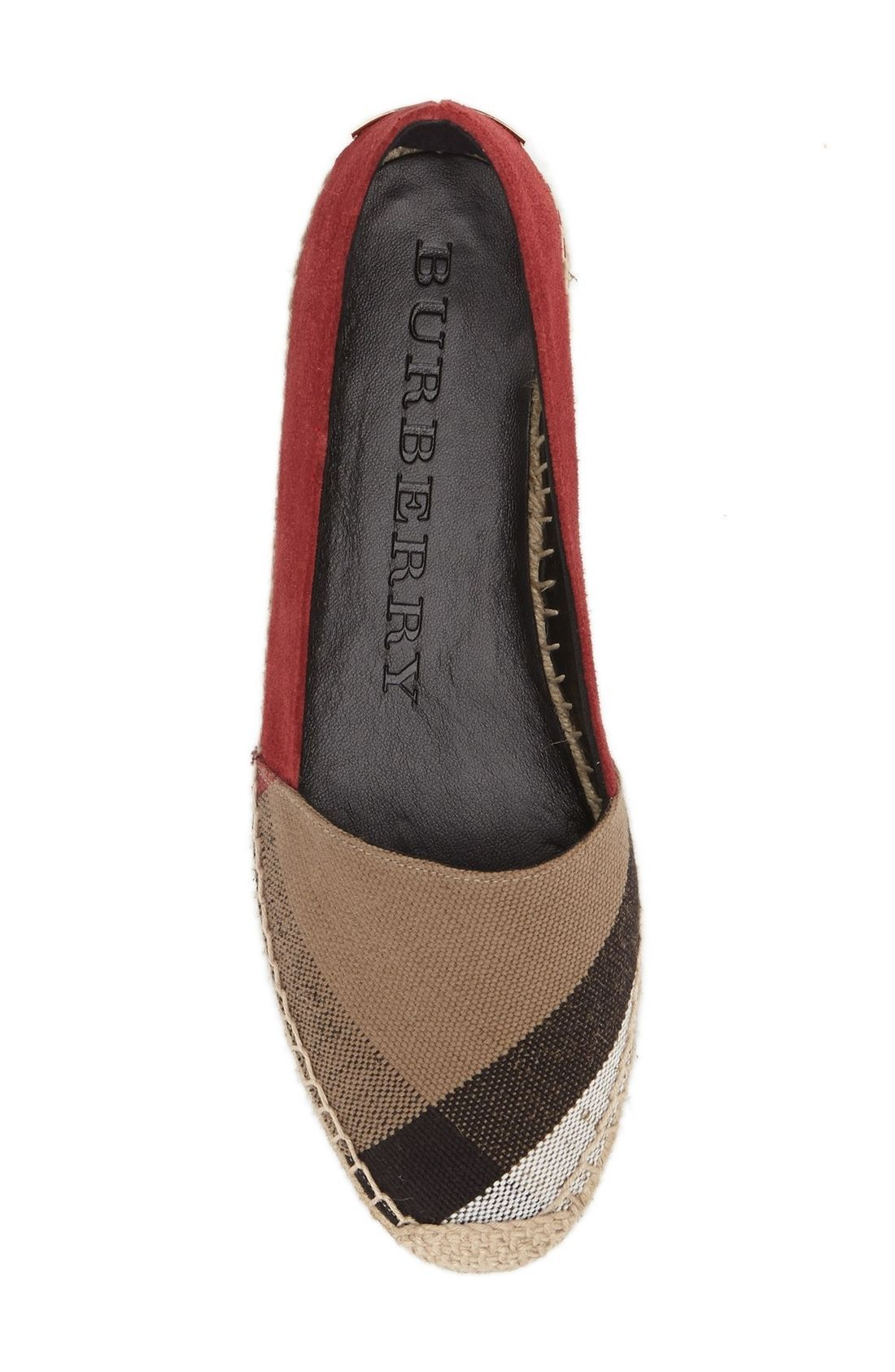 c9656c1fd175 Absolutely adoring these Burberry espadrilles with the infamous check  pattern.