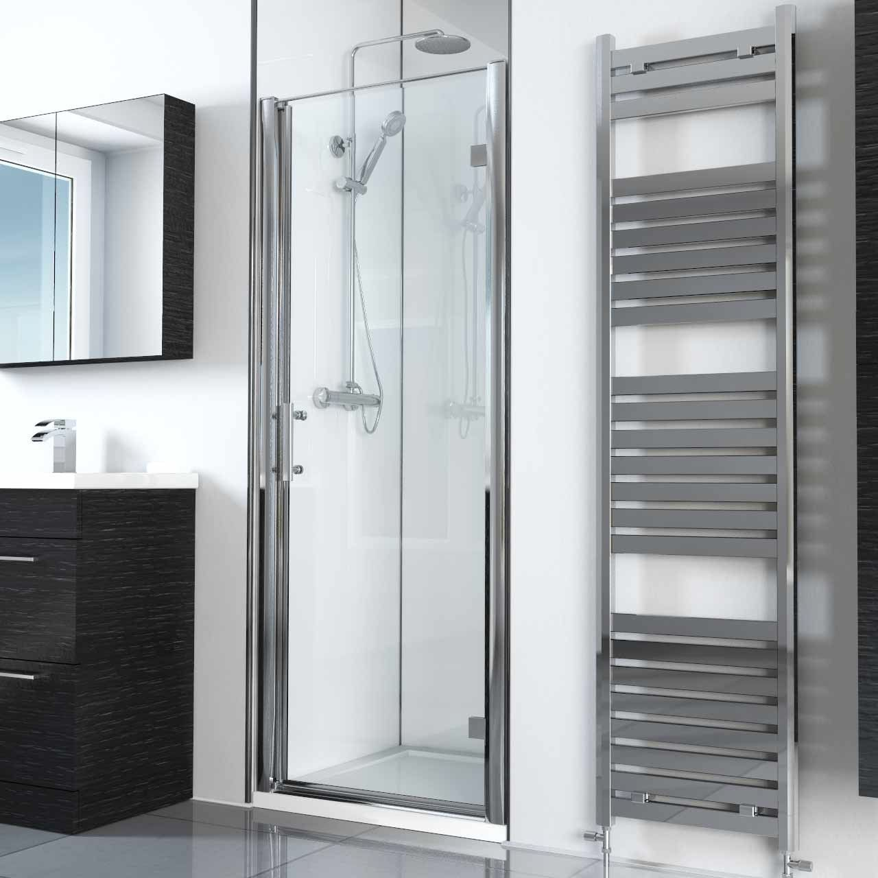 Series 6 760mm Hinged Door Shower Doors Towel Rail Bathroom Interior