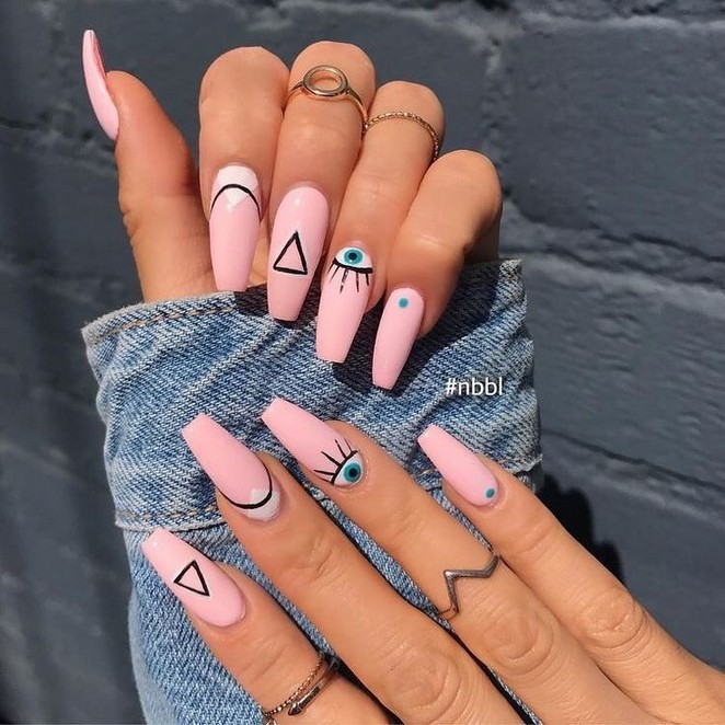57 Latest Acrylic Nail Designs For Summer 2019 50 With Images Edgy Nails Pink Nails Instagram Nails