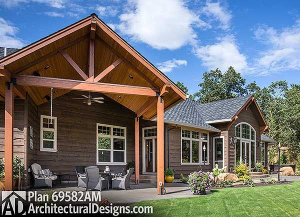 Good Plan 69582AM: Beautiful Northwest Ranch Home Plan