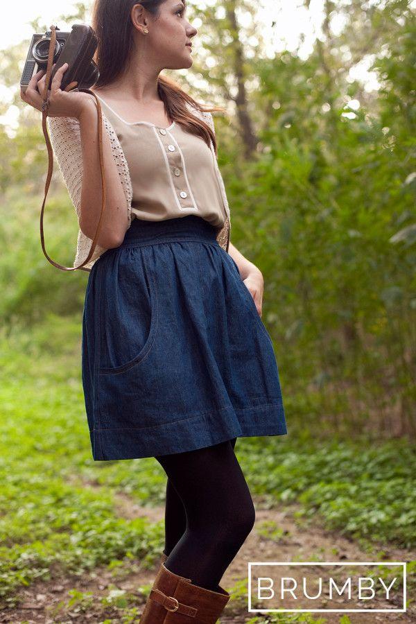 The Brumby Skirt | Damenkleidung, Schnittmuster und Nähen
