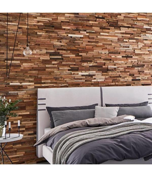 Plaquette De Parement Bois Recycle Ultrawood Teak Colorado Deco