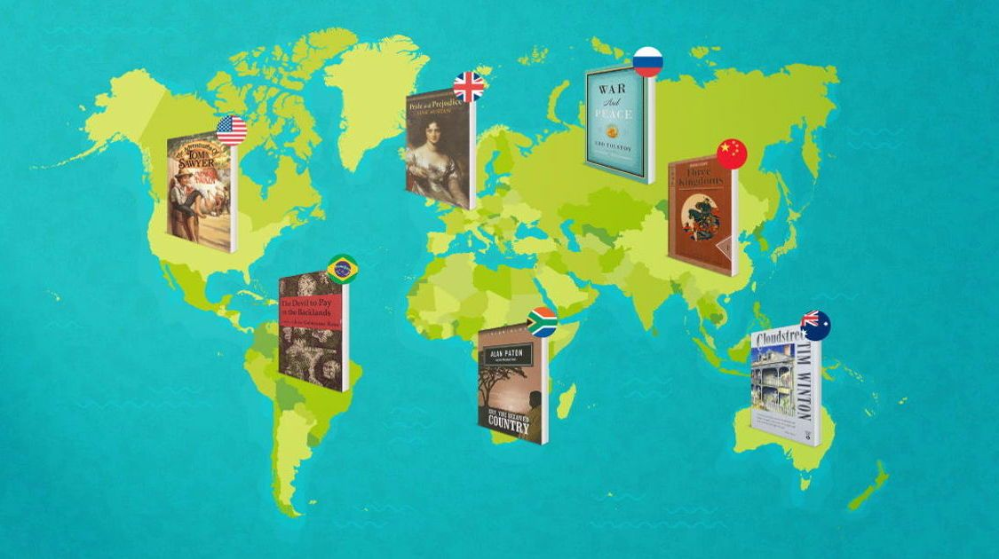 This Map Shows The Most Iconic Book Set In 150 Countries Around The World