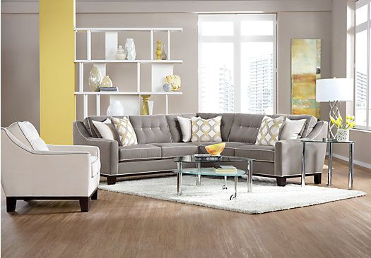 Picture Of Cindy Crawford Home State Street 2 Pc Mineral Sectional