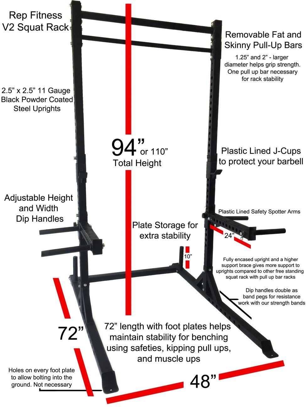 Rep Squat Rack With Pull Up Bar Diseno De Gimnasio Gimnasio