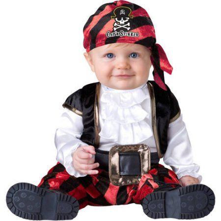 Pint-Sized Pirate Infant Halloween Costume - Walmart.com  sc 1 st  Pinterest & Pint-Sized Pirate Infant Halloween Costume Infant Boyu0027s Size: 12 ...