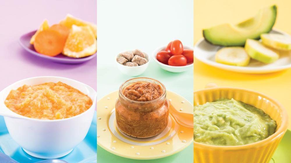 45 Papillas Para Bebes De Frutas Y Verduras Nutritivas Y