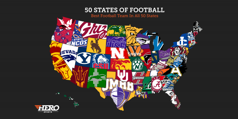 The Best College Football Team In Every State Regardless Of