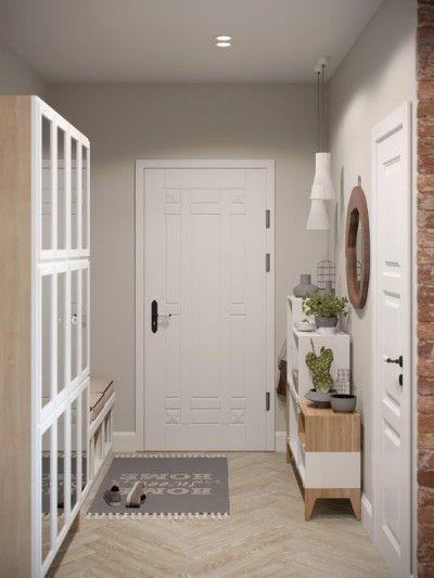 Touches de bois dans un intérieur blanc et gris | Salons, Villas and ...