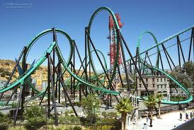 The Riddler S Revenge At Six Flags Magic Mountain Roller Coaster Theme Parks Rides Best Roller Coasters