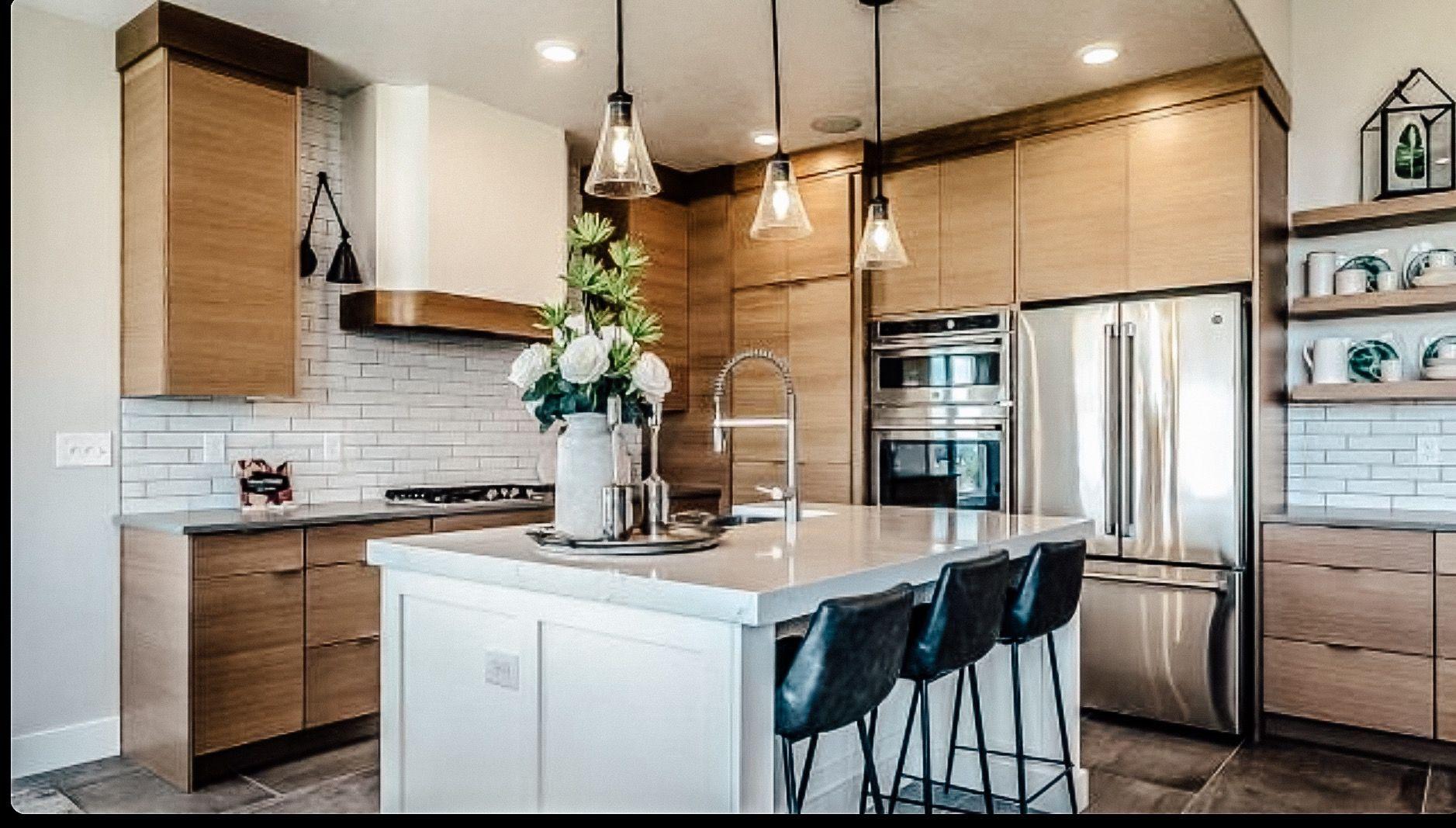 Quartersawn Oak Kitchen Cabinets