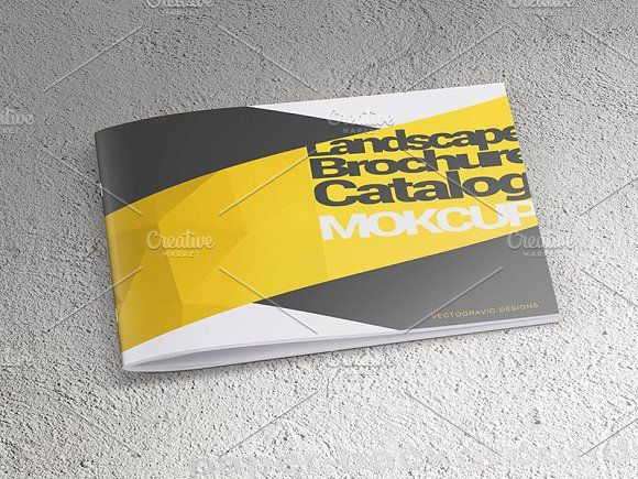Landscape Brochure Catalog Mockups By Vecto Designs On