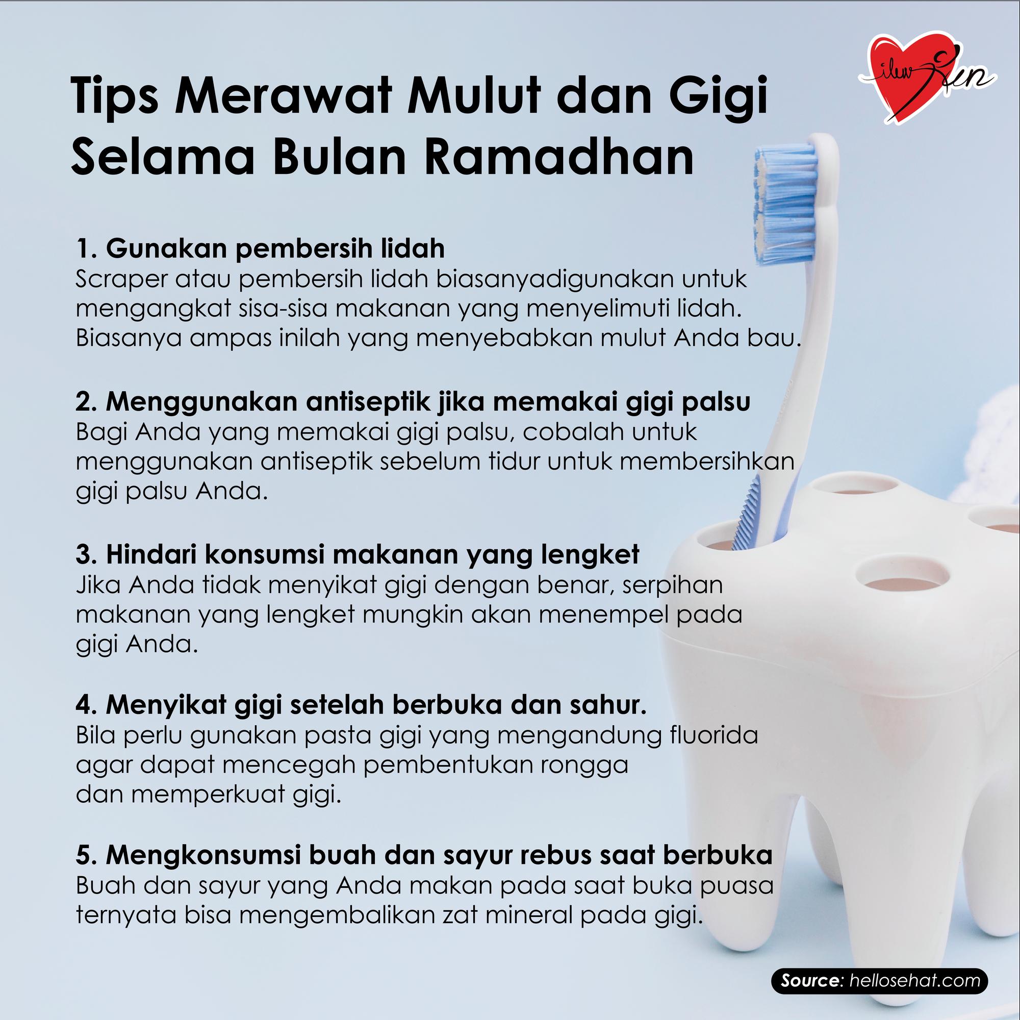 Tips Merawat Mulut Dan Gigi Selama Bulan Ramadhan 1 Gunakan Pembersih Lidah 2 Menggunakan Antiseptik Jika Memakai Gigi Pals Pembersih Lidah Gigi Palsu Gigi