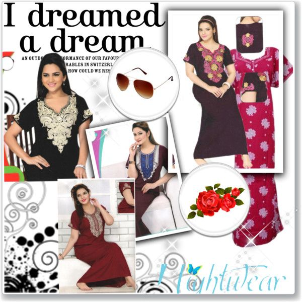 Nightwear  with Style by india-trendzs on Polyvore featuring caftan, sale, nightdress and offer