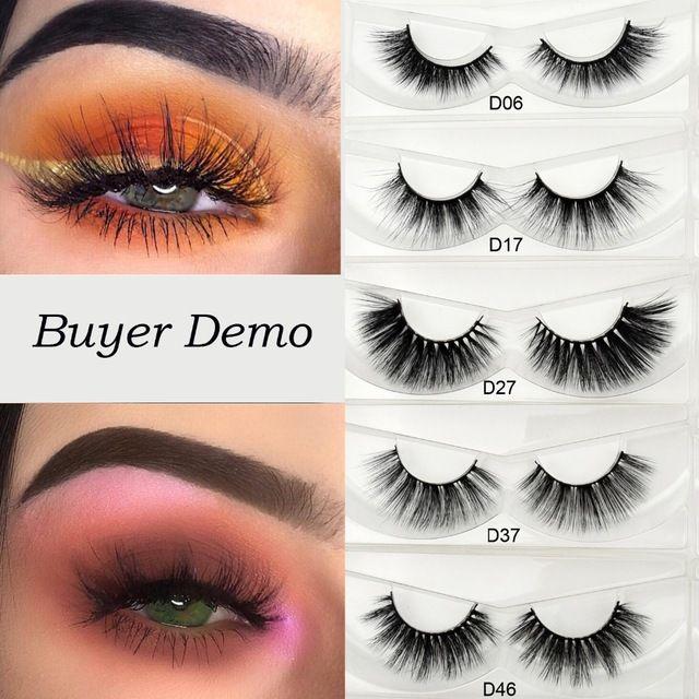 2864769b7af Visofree Eyelashes 3D Silk Eyelashes Hand Made Natural Long Faux Mink Lashes  Vegan Cruelty Free False Lashes Maquiagem Makeup Review