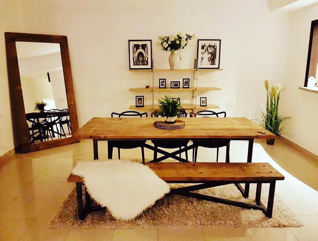 Furniture Upcycle Recycle Homedecor Interior Interiordesign Designer Woodwork Dubai Abudhabi Uae Theatticdubai Our Industrial Dining Table
