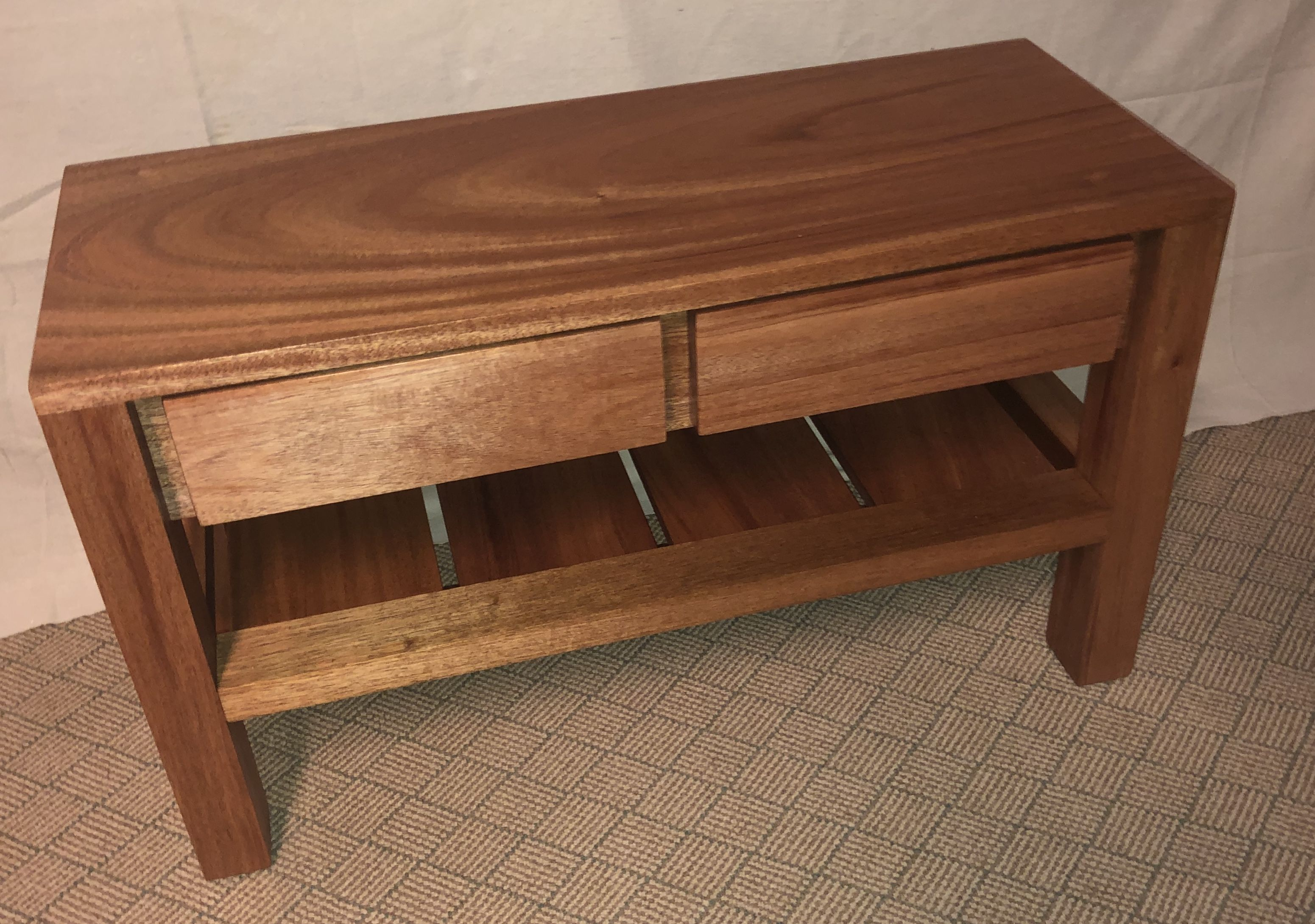 Storage Bench With Drawers Made From Solid Mahogany By Mr2 Woodworking Storage Bench Bench With Drawers Solid Mahogany