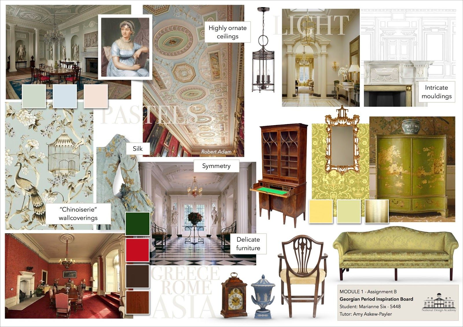 The Stylish Interior  Interior design presentation boards