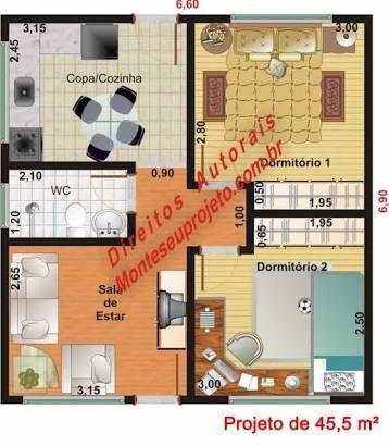 Resultado de imagen para plantas de casas com 30 metros quadrados