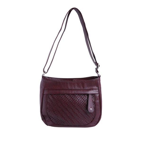 04cda147e0cfb Oliver Shoulder Bag mit Netz-Optik Handtasche I Bag I Tasche I bordeaux I  rot