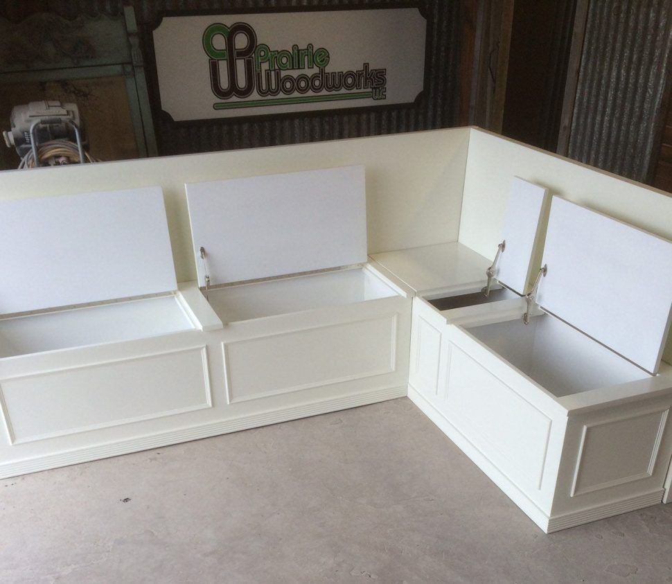 Furnitures No Finish Banquette Corner Bench Seat With Storage