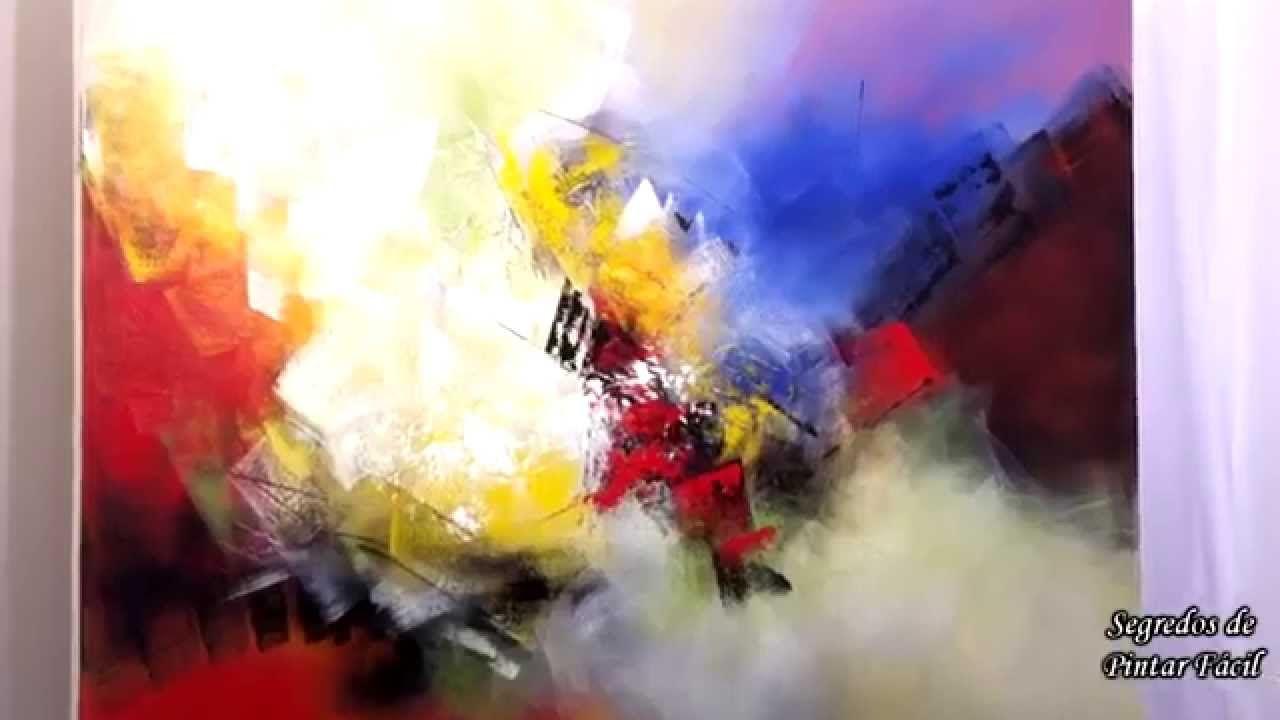 Pintura abstrata tela