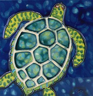 Sea Turtle Painting Original Acrylic Art Coastal On