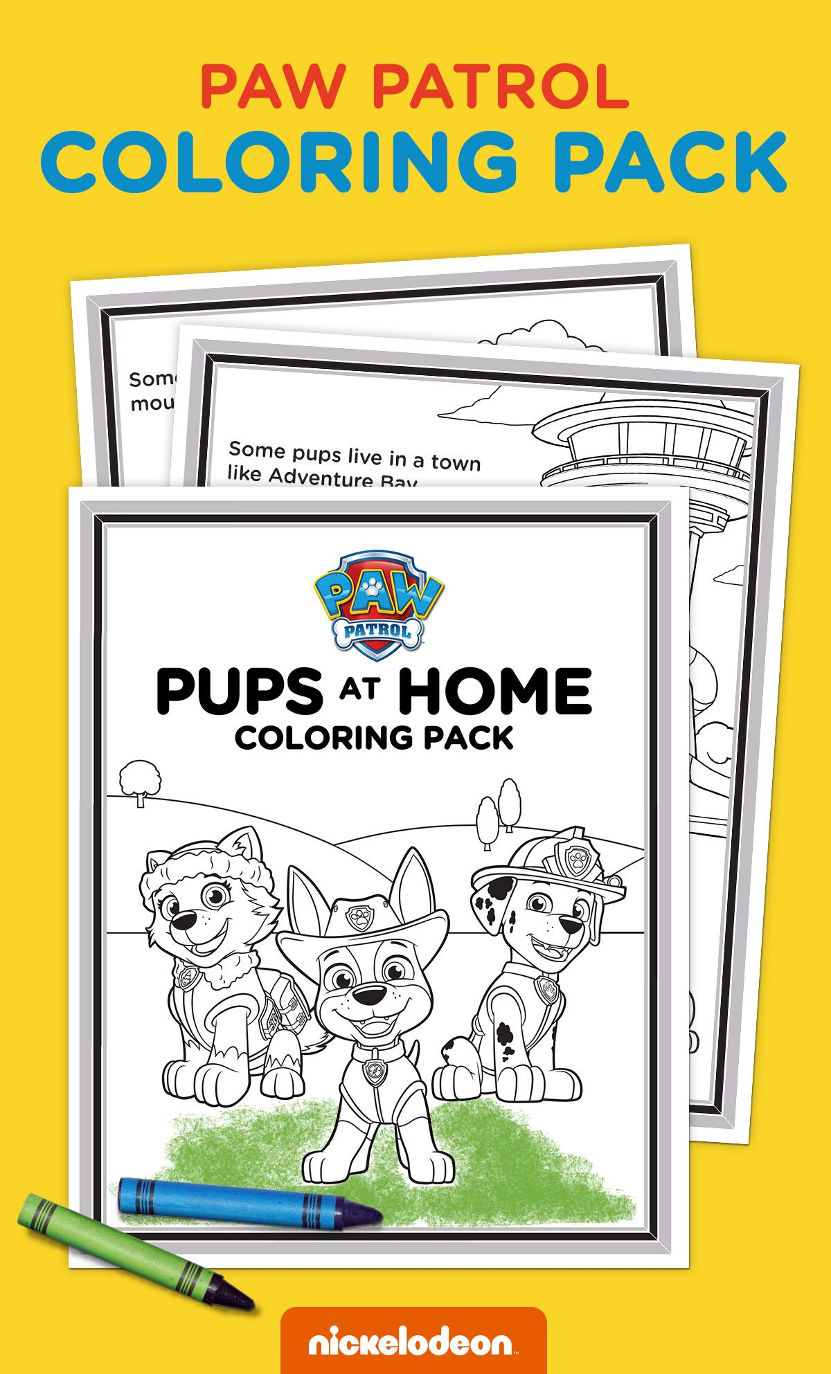 Exclusive Pups At Home Coloring Pack In