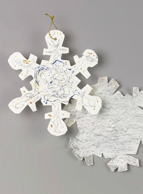 Winter Snowflake Stencil Simple Snowflake Winter Crafts For Kids