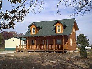 Chalet Lumber New Home House Kit 3 Bedrooms 2 Bath Ranch Prefabricated  Homes. Log Cabin ...