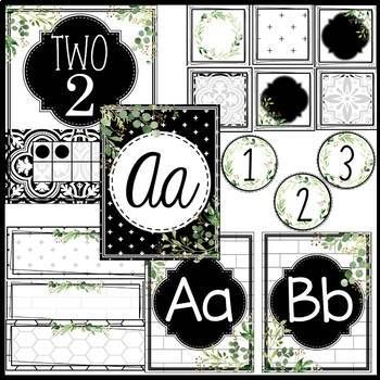 Tile Farmhouse Classroom Decor Bundle #classroomdecor