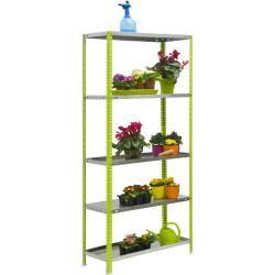 Estante del estante S – Click Garten 5/400 verde / gris, dimensiones: 180 x 90 x 40 cm (alto x ancho x profundidad), capacidad de carga: 180