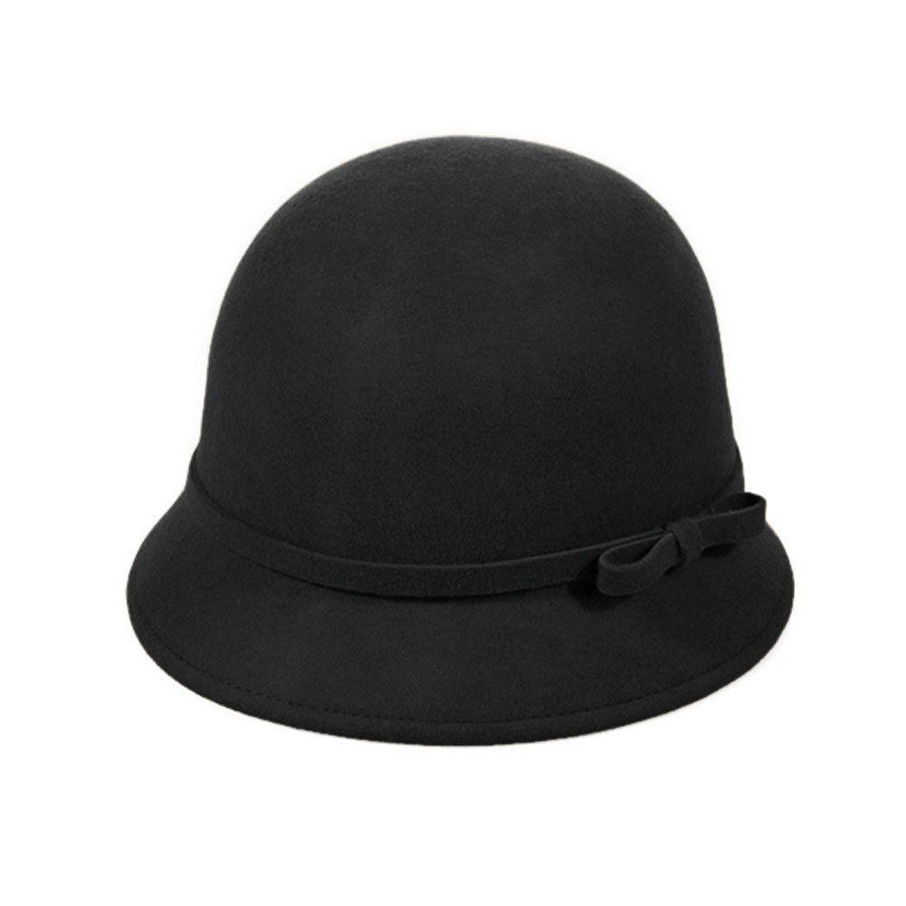 edad53dfe512 FUNOC Fashion Vintage Women Ladies Wool Fedora Bucket Dome Cloche ...
