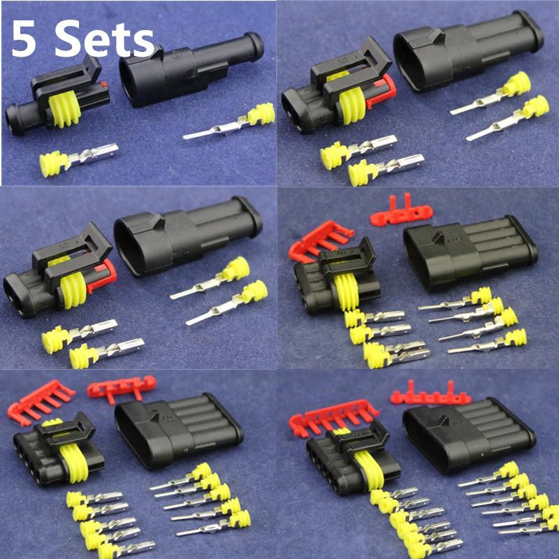 Admirable 5 Sets Kit 1 2 3 4 5 6 Pin Automotive Seal Waterproof Electrical Wiring 101 Capemaxxcnl